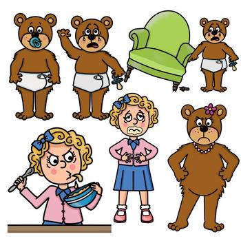 clip art pngs goldilocks and the three bears by ms presto tpt rh teacherspayteachers com goldilocks clipart black and white goldilocks clip art free