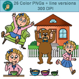 Clip Art PNGs- Goldilocks and the Three Bears