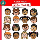 Clip Art PNGs - Kids' Faces