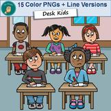 Clip Art PNGs - Kids at Desks