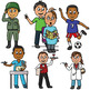 30 Clip Art PNGs - Occupations / Jobs