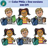 Clip Art PNGs - Packing School Bag