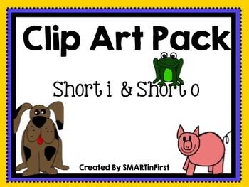 Clip Art Pack: Short i and Short o