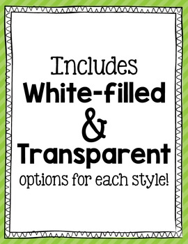 Clip Art Page Border Frames: Black and White Digital Frames