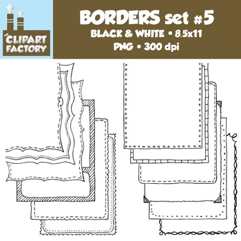 Clip Art: Page Borders - 12 NEW Fun decorative borders - Set #5