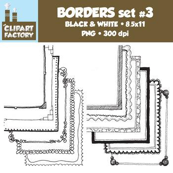 Clip Art: Page Borders - 12 NEW Fun decorative borders - Set #3