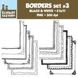 Clip Art: Page Borders - 12 NEW Fun decorative borders - Set #3