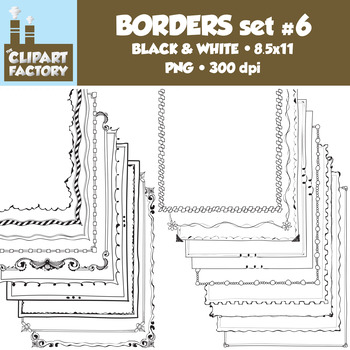 Clip Art: Page Borders - 20 NEW Fun decorative borders - Set #6