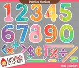 Colorful Numbers Clipart - blacklines included