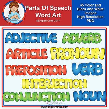 Clip Art - Parts of Speech Word Art