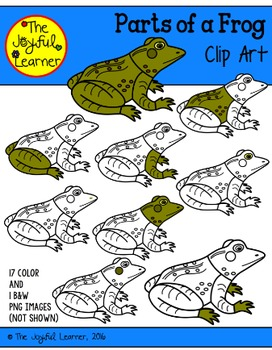Clip Art: Parts of a Frog (for creating 3-Part Cards & other resources)