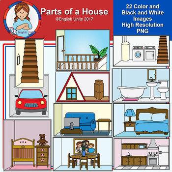 Clip Art - Parts of a house