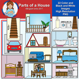 Clip Art - Parts of a house