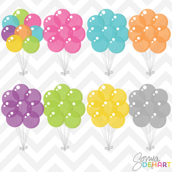 Clipart - Party Balloons