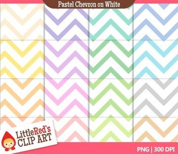 Pastel Chevron Digital Papers