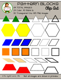 Clip Art: Pattern Blocks (color, B&W, transparent, solid/d