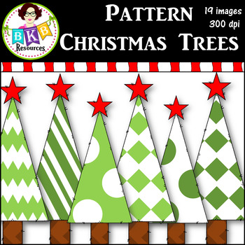 Clip Art ● Pattern Christmas Trees ● Graphics ● Products for TpT Sellers