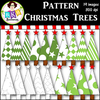Clip Art ● Pattern Christmas Trees ● Graphics ● Products f