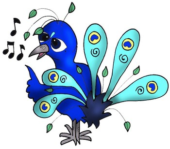 Clip Art: Peacocks at School, Math, Science, Art, Technology by HeatherSArtwork