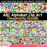 Alphabet Clip Art Bundle ~ Consonants Only