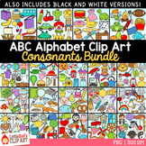 Alphabet Clip Art Bundle ~ Consonants Only