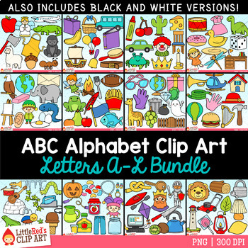 Alphabet Clip Art A - L Bundle