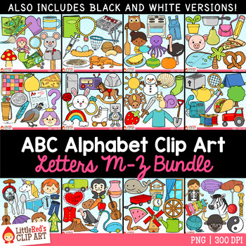 Alphabet Clip Art Bundle Letters M - Z