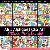 Alphabet Clip Art Bundle Letters M - Z