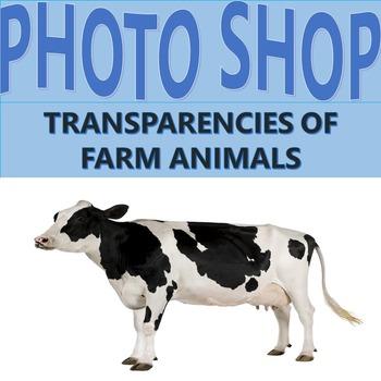 Clip Art: Photographs of farm animals , transparencies