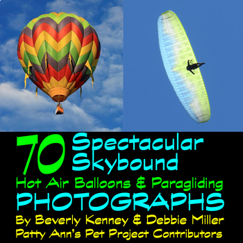 Hot Air Balloons & Paragliding Clip Art *Photography 70 Photographs Sports Jpegs
