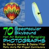 Hot Air Balloons & Paragliding Clip Art *Photography 70 Ph