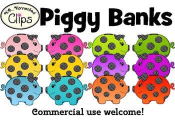 Clip Art - Piggy Banks!