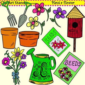 Clip Art Plant a Flower
