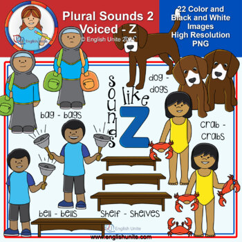 Clip Art - Plural Sounds - Sounds like z