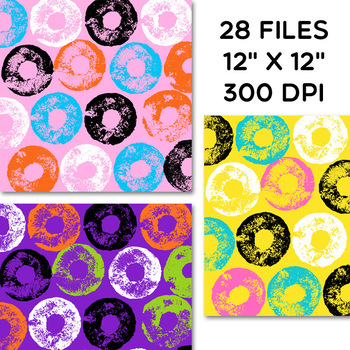 Clip Art: Pool Noodle / Circle / Donut Digital Papers Personal Commercial Use