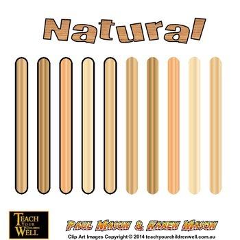 Clip Art Pop Sticks - 150 +