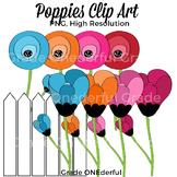 Poppies Clipart, Flowers Clip Art, Poppy