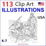 Clip Art & Posters | 113 Illustrations | USA (K-12)