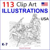 Clip Art & Posters | 113 Illustrations | USA (K-7)