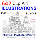 BUNDLE: Clip Art & Posters | 642 Illustrations | People, Places, Events (K-12)