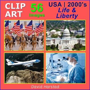 Clip Art & Posters | USA 2000's - Life & Liberty | 56 Images (Grades K-12)