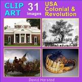 Clip Art & Posters | USA 1700's: Colonies & Revolution | 31 Images (Grades K-12)
