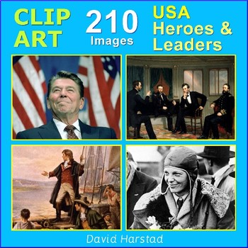 Clip Art & Posters | USA - Heroes & Leaders | 210 Images (Grades K-12)