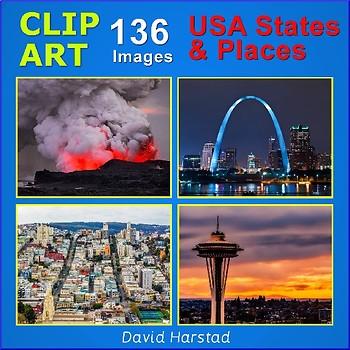 Clip Art & Posters | USA States & Places | 136 Images (Grades K-12)