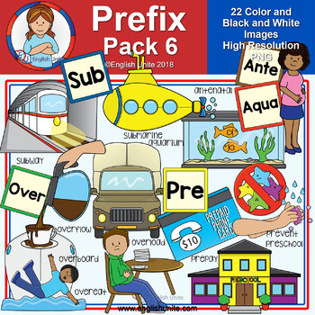Clip Art - Prefix Pack 6 (Ante, Aqua, Over, Pre & Sub)