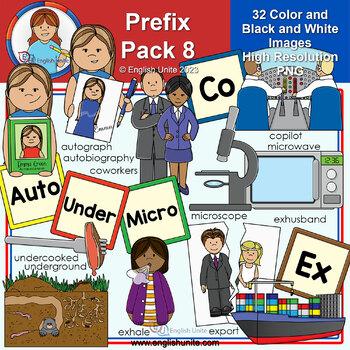 Clip Art - Prefix Pack 8 (Auto, Co, Ex, Micro & Under)