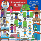 Clip Art - Prepositions of Place
