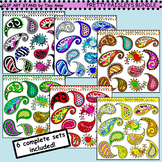 Clip Art Pretty Paisleys Bundle