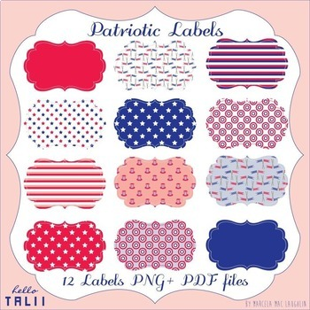 Clip Art- Printables: 4th of July Labels