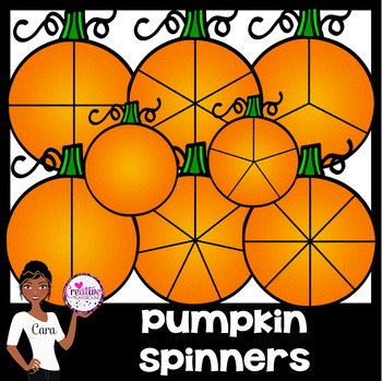 Clip Art~ Pumpkin Spinners for Fall and Halloween